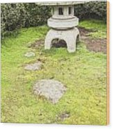 Japanese Stone Lantern Hamilton Gardens New Zealand Wood Print by Colin and Linda McKie