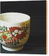 Japanese Tea Cup Wood Print