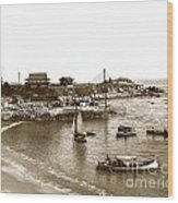 Japanese Tea Garden Glass Bottom Boats At Lovers Point Pacific Grove California Circa 1907 Wood Print