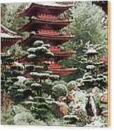 Japanese Tea Garden Wood Print