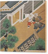 Japanese Warrior And Noble Wood Print