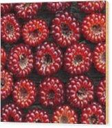 Japanese Wineberry Pattern Wood Print