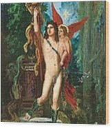 Jason And Eros Wood Print by Gustave Moreau