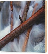 Jasper - Beauty Creek Logs Wood Print