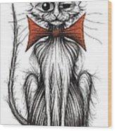 Jasper The Cat Wood Print