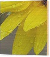 Jaune Petals Wood Print