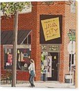 Java City Wood Print