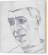 Jawaharlal Nehru Wood Print