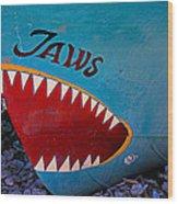 Jaws Boat Bow Wood Print