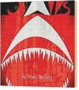 Jaws Minimalist Poster  Wood Print