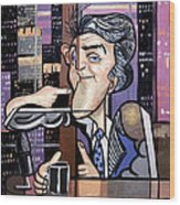 Jay Leno You Been Cubed Wood Print
