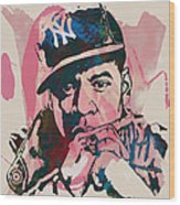 Jay-z Stylised Etching Pop Art Poster Wood Print