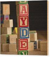 Jayden - Alphabet Blocks Wood Print