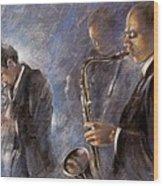 Jazz 01 Wood Print