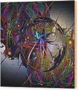 Jazz Age Spiral Wood Print