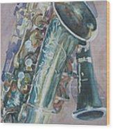 Jazz Buddies Wood Print