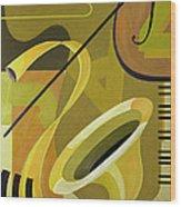 Jazz Wood Print by Carolyn Hubbard-Ford