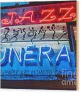 Jazz Funeral And Lamp Nola Wood Print