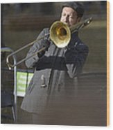 Jazz In Central Park 1 Wood Print