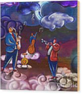 Jazz In Heaven Wood Print