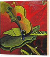 Jazz Infusion Wood Print