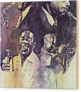 Jazz Legends Parker Gillespie Armstrong  Wood Print