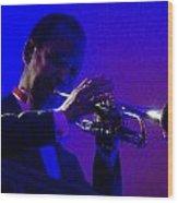 Jazz Man David Hardiman On The Trumpet Wood Print