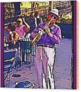 Jazz Man Wood Print