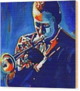 Jazz Man Miles Davis Wood Print