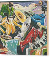 Jazz No. 3 Wood Print