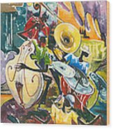 Jazz No. 4 Wood Print