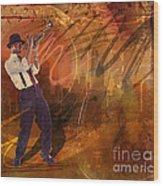 Jazz Nrg Wood Print