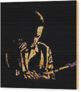 Jazz Player From New Orleans Wood Print