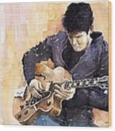 Jazz Rock John Mayer 02 Wood Print