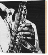 Jazz Saxophonist Wood Print