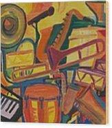 Jazz Squared Wood Print