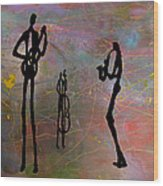 Jazz Trio 3 Wood Print