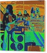 Jb #33 Enhanced In Cosmicolors Wood Print
