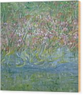 je t'aime Monet Wood Print