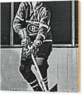 Jean Beliveau Wood Print