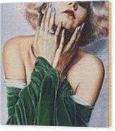 Jean Harlow  @ Ariesartist.com Wood Print
