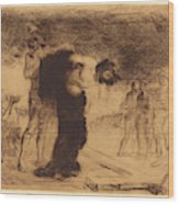 Jean-louis Forain, Christ Stripped Of His Clothes Wood Print