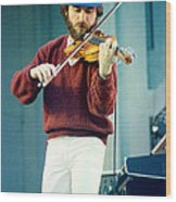Jean Luc Ponty At The Greek Theater In Berkeley Ca 1980 Wood Print