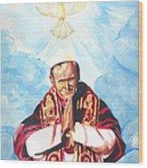 Jean Paul II Wood Print