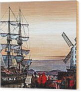 Jeanie Johnston Famine Ship Wood Print