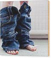 Jeans Wood Print