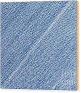 Jeans Texture Wood Print