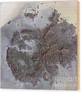Jebel Uweinat Mountains, Satellite Image Wood Print
