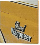 Jeep Grand Wagoneer Side Emblem Wood Print