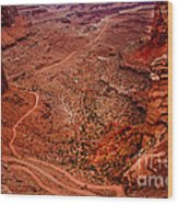Jeep Trails Wood Print by Robert Bales